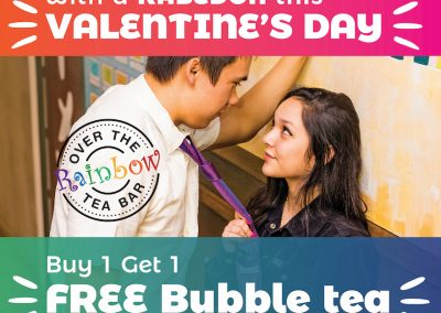 valentines day 2020 free bubble tea